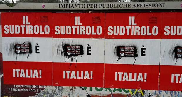Südtiroler Heimatbund: Anzeige gegen römische Plakatbeschmierer