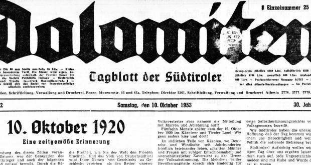 Der 10. Oktober:  Tag der Freude für Kärnten – Tag der Trauer für Südtirol!