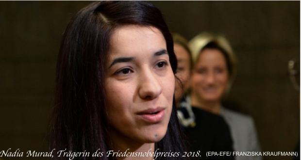 Südtiroler Heimatbund gratuliert der kurdischen Aktivistin Nadia Murad zum Friedensnobelpreis