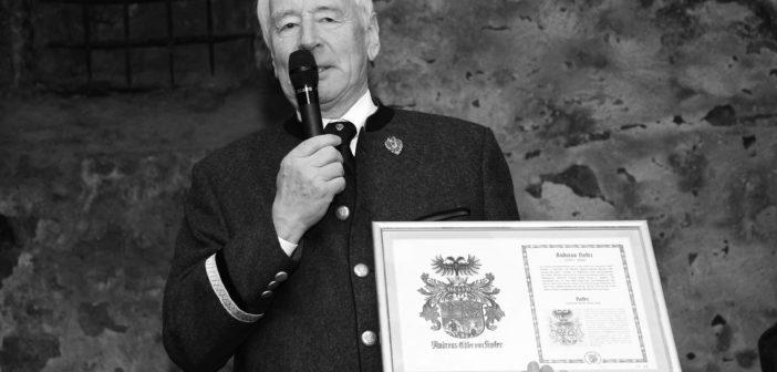 Südtiroler Heimatbund in Trauer Winfried Matuella, Ehrenobmann des AHB Tirol verstorben