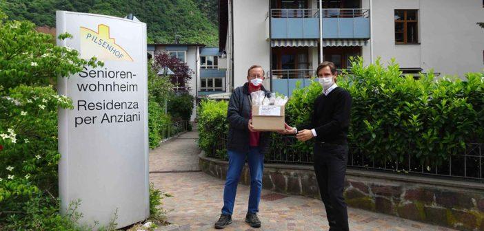 Südtiroler Heimatbund half mit Schutzvisieren